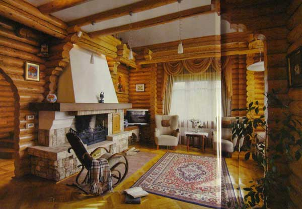 внутренняя отделка деревянного дома окраска.