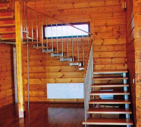 Лестниц в рубленом бревенчатом доме