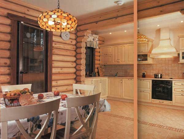 Специфика ремонта кухни в деревянном доме
