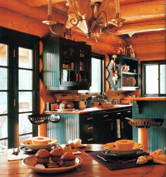 В деревянном доме фото кухни фото
