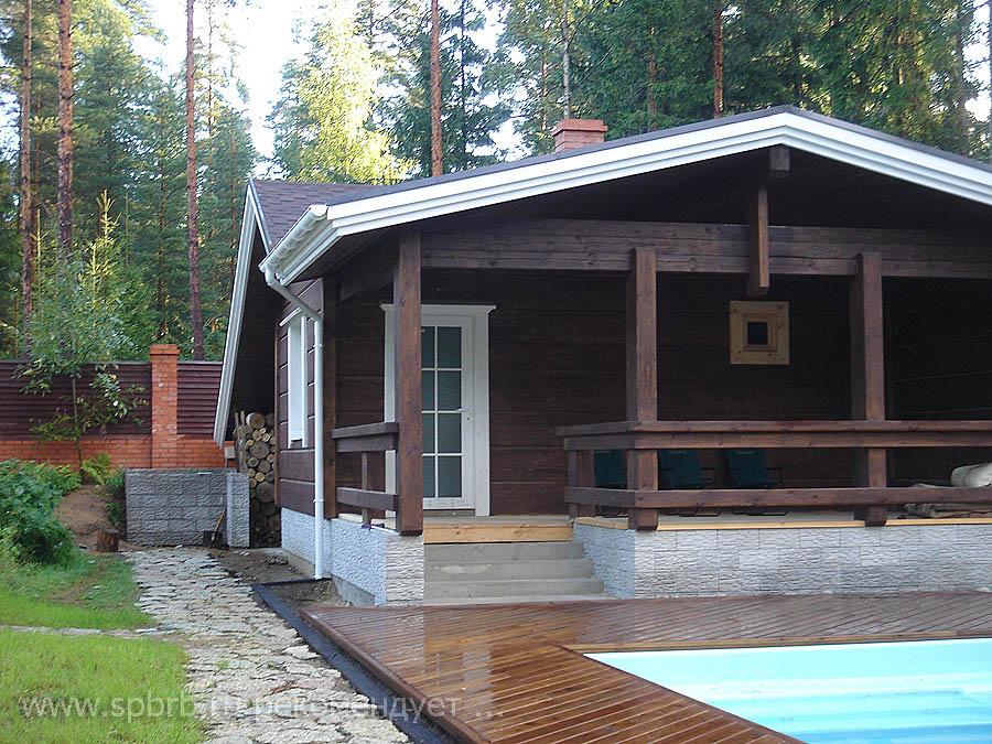 дачный дом с террасой и бассейном кого-нибудь