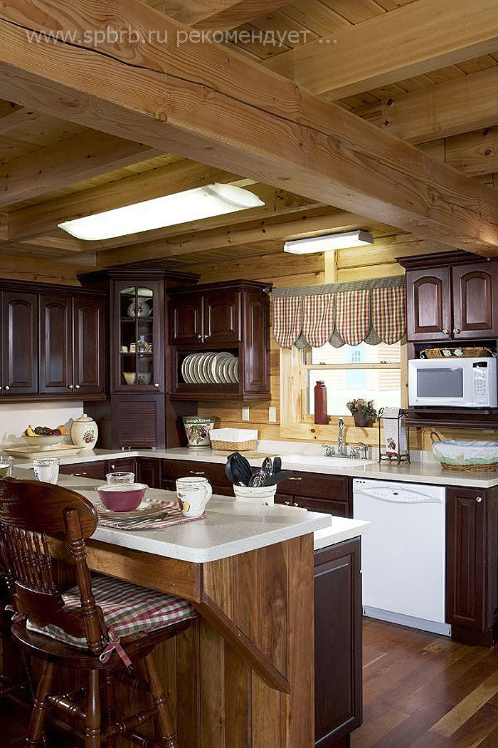 for Log cabin kitchen backsplash ideas