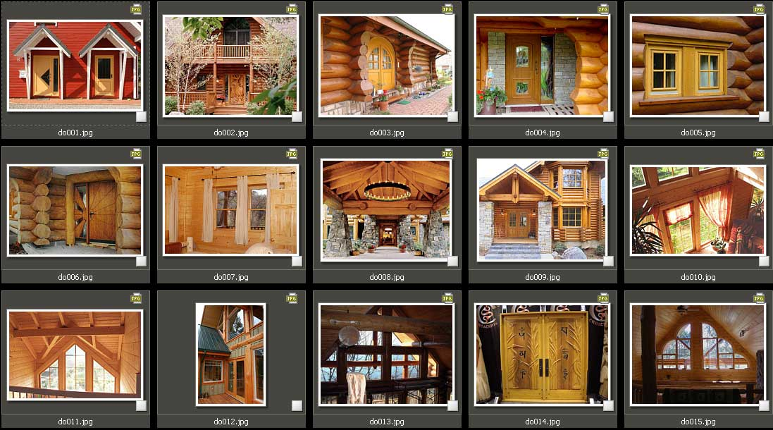 Windows and doors log home