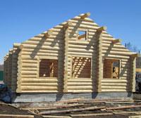 Сруб дома, построенного нами на Камчатке