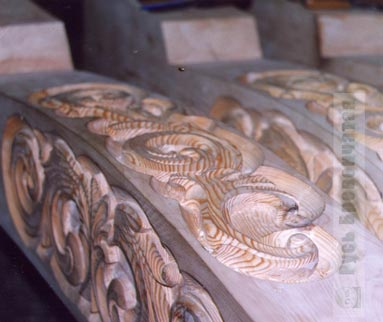 Carved wooden decorations