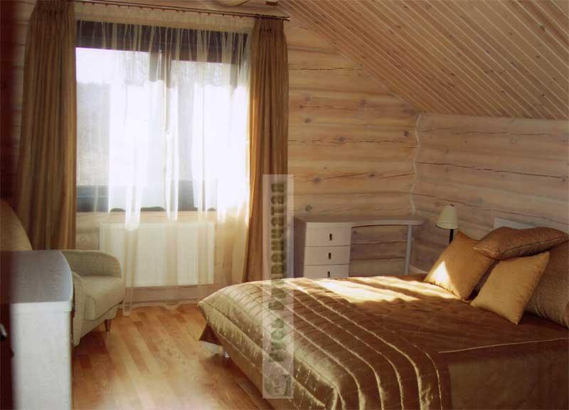 Дизайн комнаты в деревянном доме