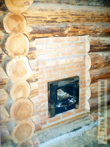 4. Печи для бани.  Кирпичные и металлические печи в деревянной рубленой бане.