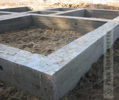 Строительство фундамента рубленного
