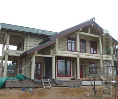 Price on delivery and assembling of log homes