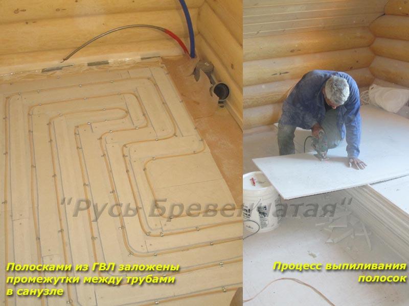 деревянный дом полы своими руками