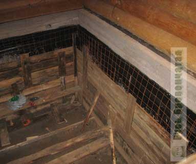 Как сделать подвал в бане 716