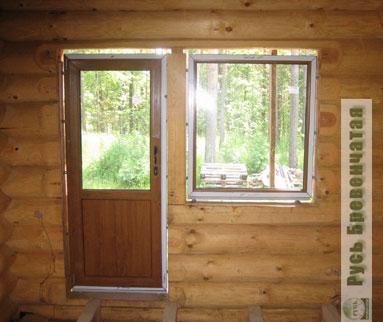 Как установить межкомнатную дверь в деревянном доме
