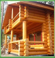 Wooden houses and baths made of a round log � the Canadian building technology