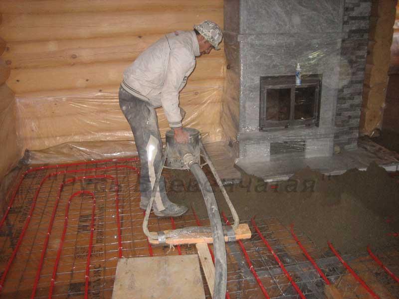 Стяжка пола своими руками по деревянному дому