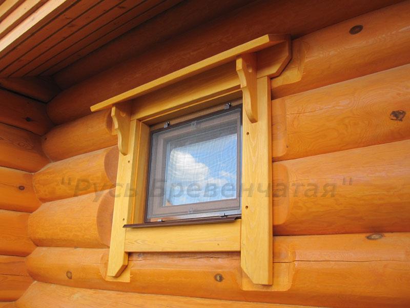 Полностью готовое окно, установленное в обсадную коробку