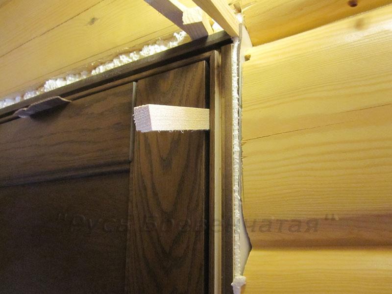 Установка дверей межкомнатных в деревянном доме своими руками