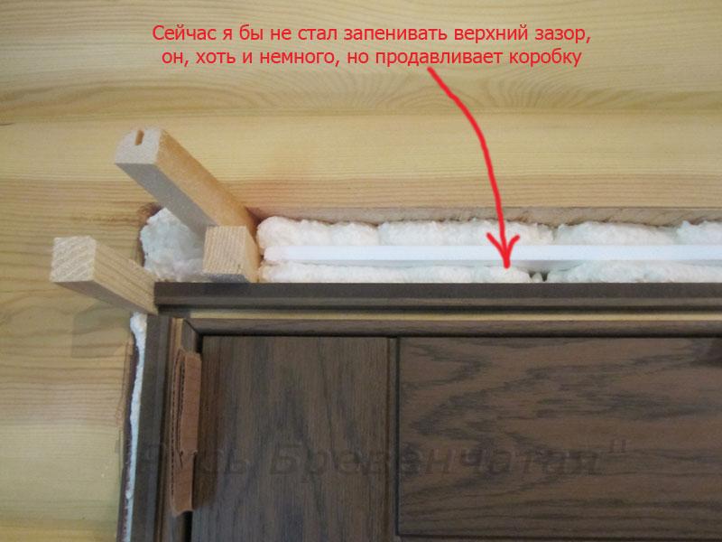 установка двери железной в сруб
