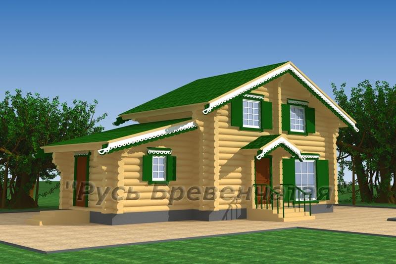 Гостевой домик из бруса 106