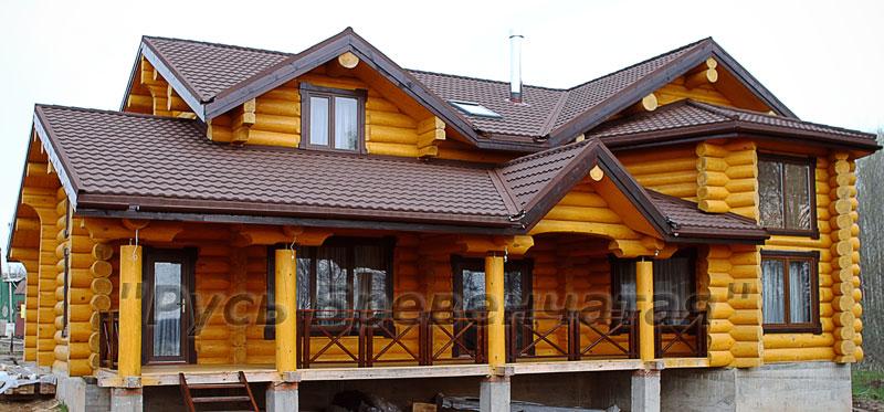 Монтаж кровли деревянных домов и бань